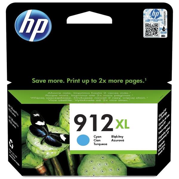 HP 912XL (3YL81AE) High Yield Ink Cartridge - Cyan
