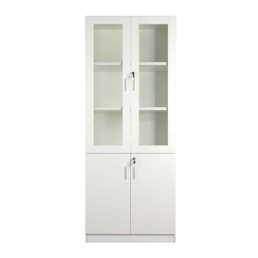Mahmayi Carre 1123 Full Height Bookshelf - White