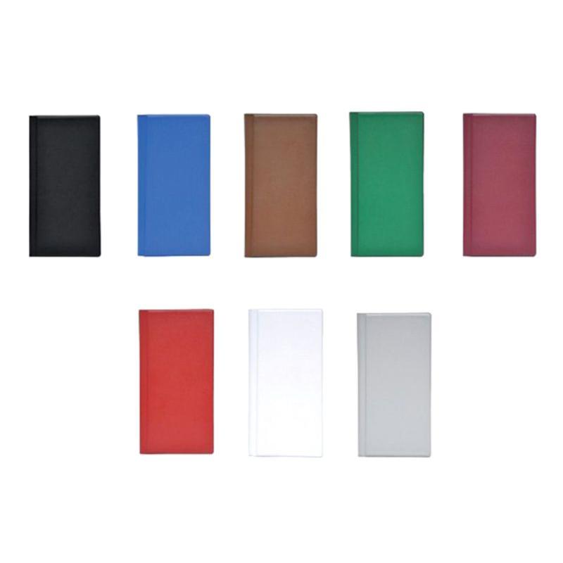 FIS FSNC160ASST Business Card Holder PVC 160-cards 12 x 25.5cm - Assorted (pc)