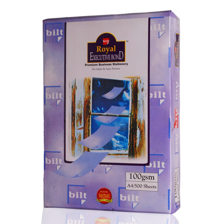 Bilt Royal Executive Bond Paper Colour Laid Finish 100gsm A4 - Camelle Off White (rm/500s)
