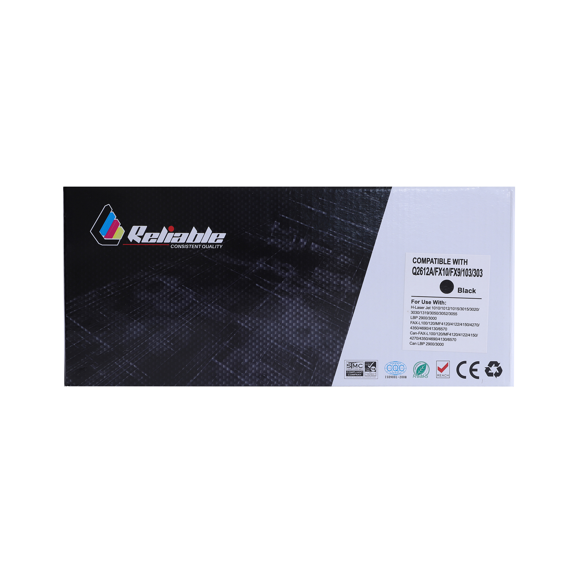 Reliable 12A (Q2612A) / FX10 / FX9 / 103 / 303 Compatible Toner Cartridge - Black