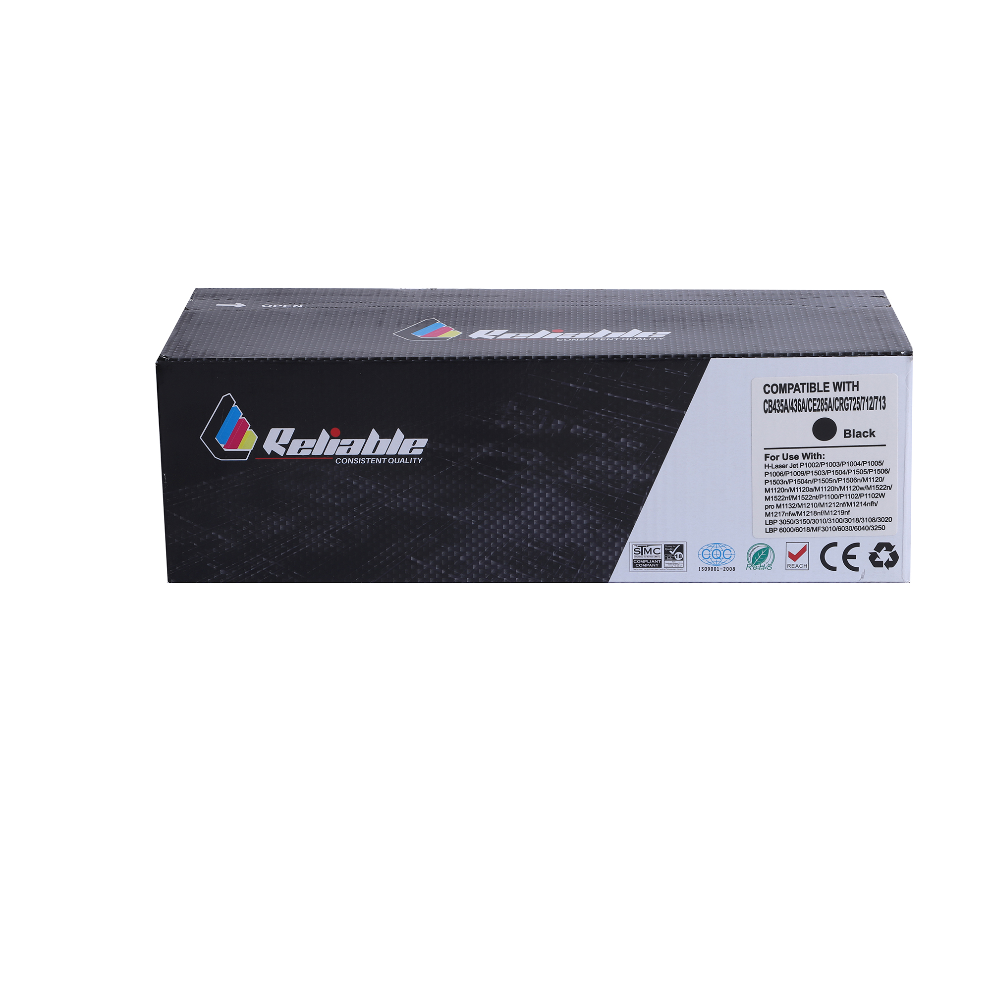 Reliable 85A (CE285A) / 35A (CB435A) / 36A (CB436A) / 725 / 712 / 713 Compatible Toner Cartridge - Black