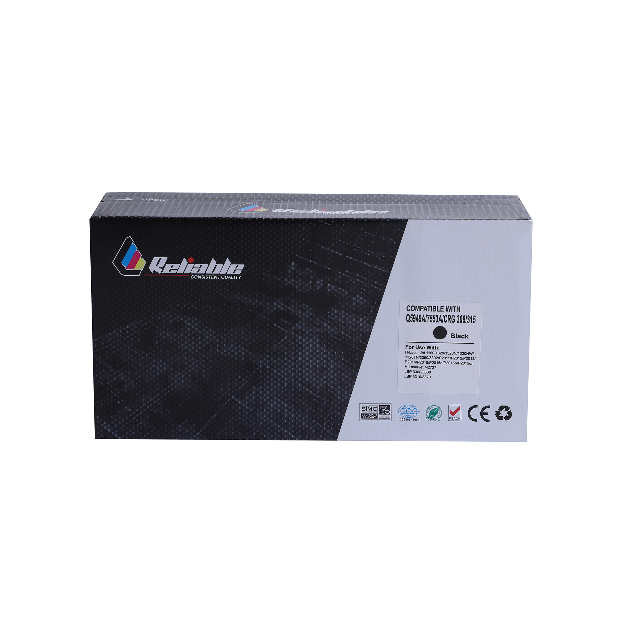 Reliable 49A (Q5949A) / 53A (Q7553A) Compatible Toner Cartridge - Black