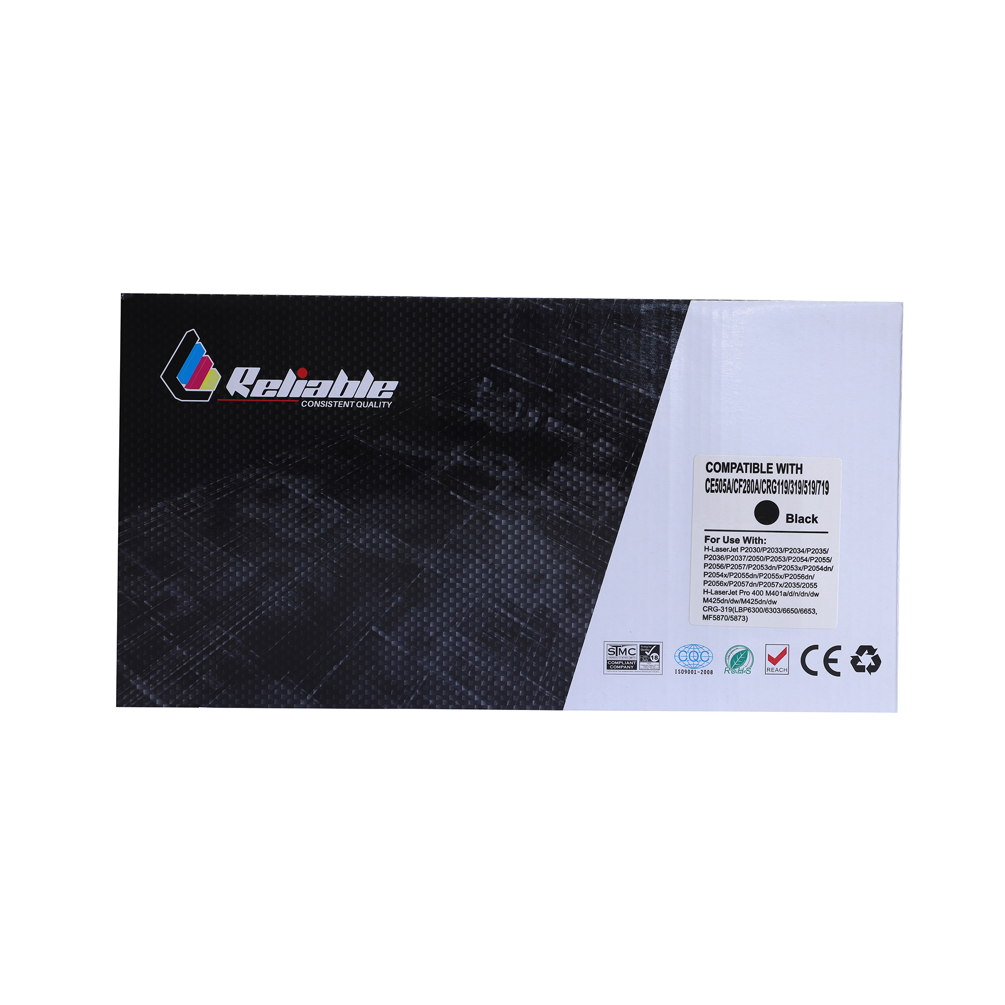 Reliable 05A (CE505A) / 80A (CF280A) Compatible Toner Cartridge - Black