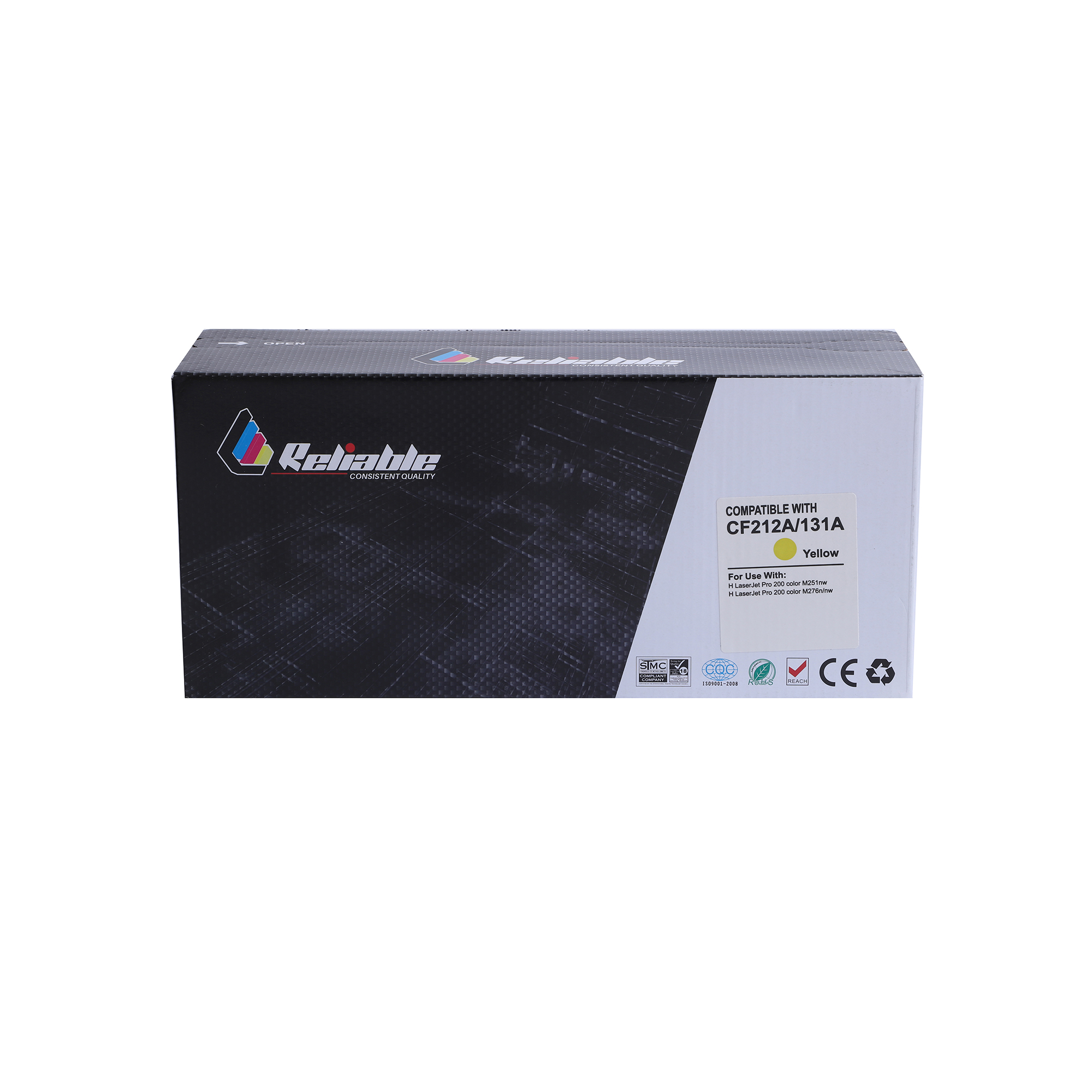 Reliable 125A (CB542A) / 131A (CF212A) / 128A (CE322A) Compatible Toner Cartridge - Yellow