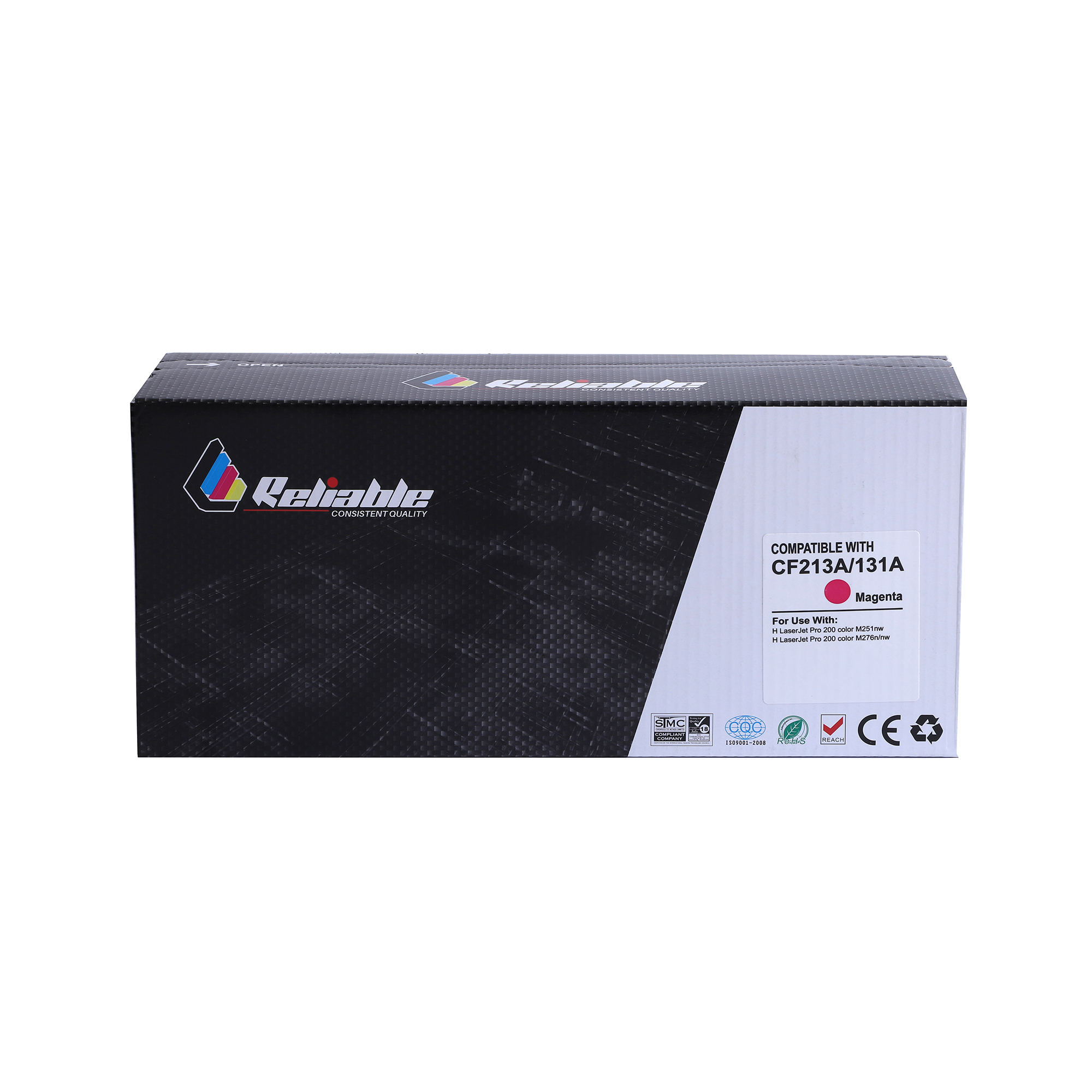 Reliable 125A (CB543A) / 131A (CF213A) / 128A (CE323A) Compatible Toner Cartridge - Magenta