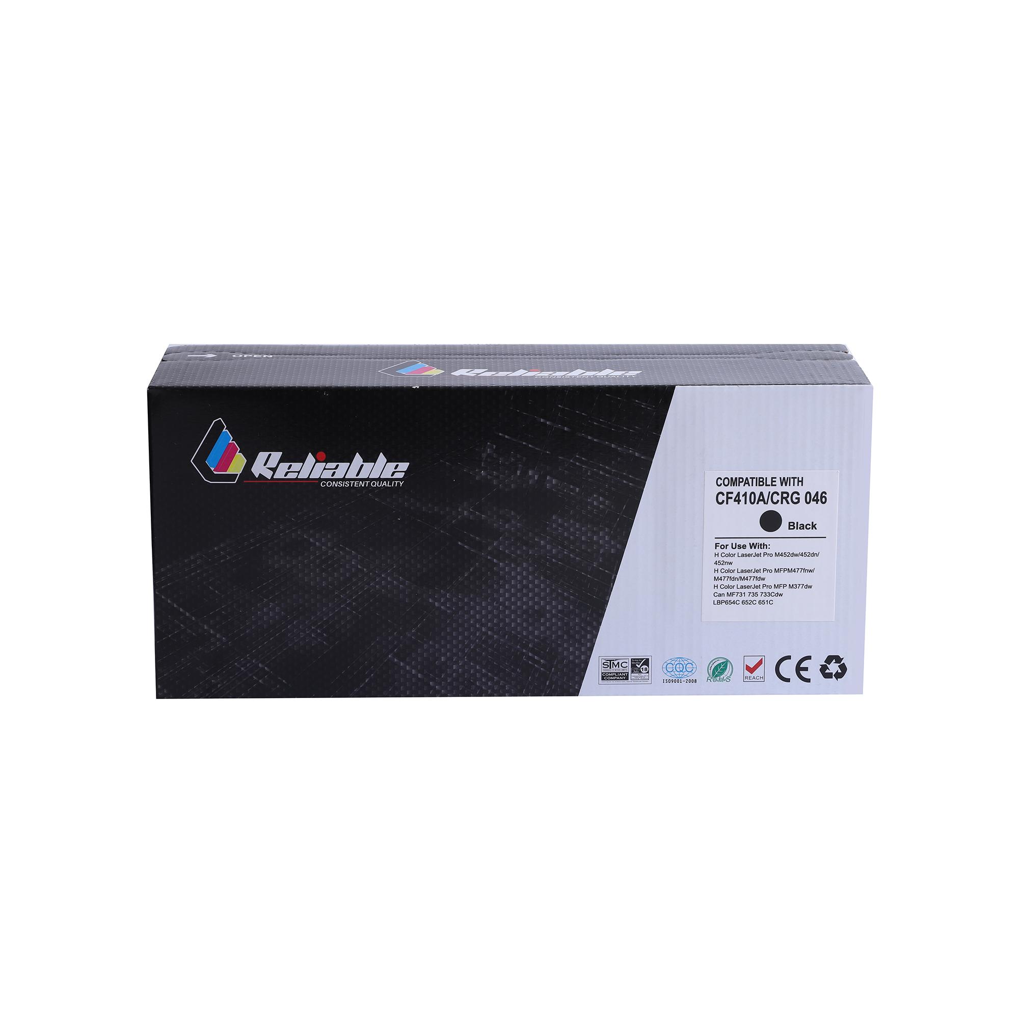 Reliable 410A (CF410A) / 046 Compatible Toner Cartridge - Black