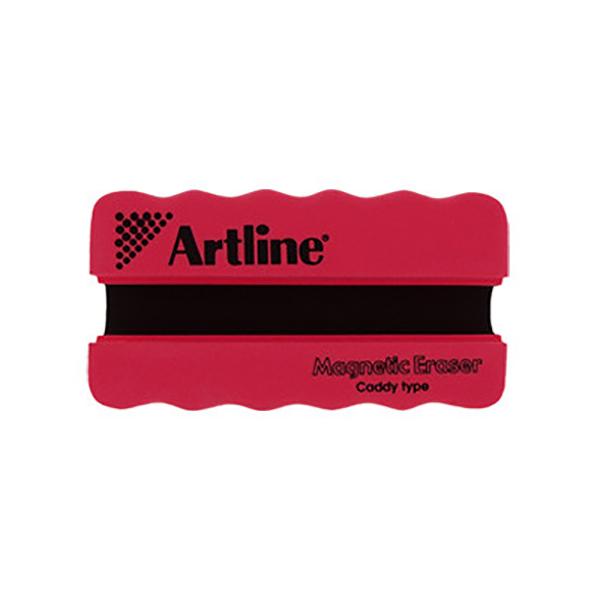 Artline Magnetic Whiteboard Eraser with Holder - Red (pc)