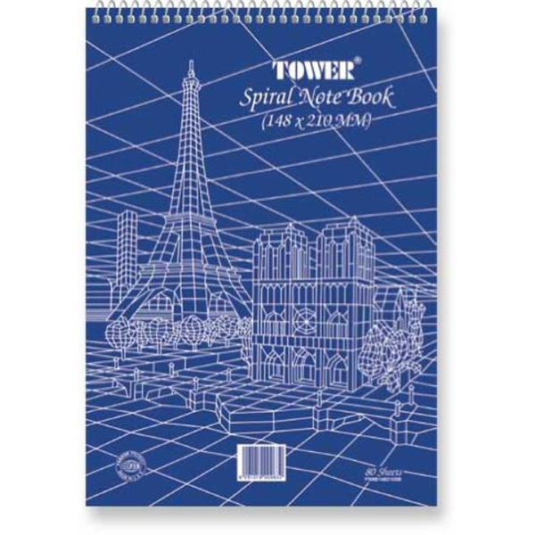 FIS Tower Top Spiral Notebook 80-sheets FSNB210297SB - A4 (pkt/10pcs)