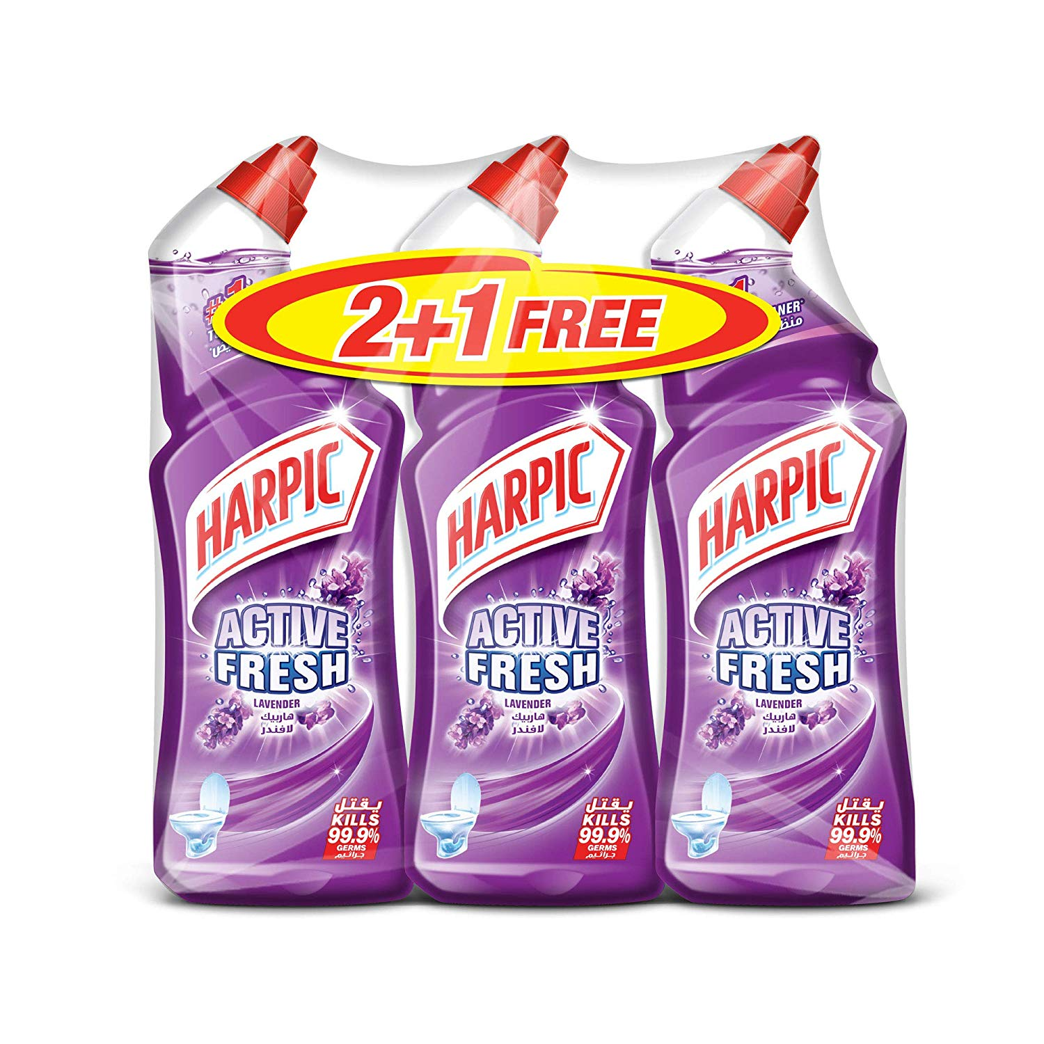 Harpic Active Fresh Toilet Cleaner Lavender - 750ml (pkt/3pcs)