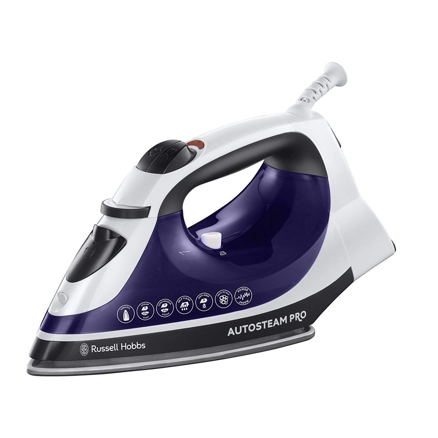 Russell Hobbs 22523 Steam Iron - Purple