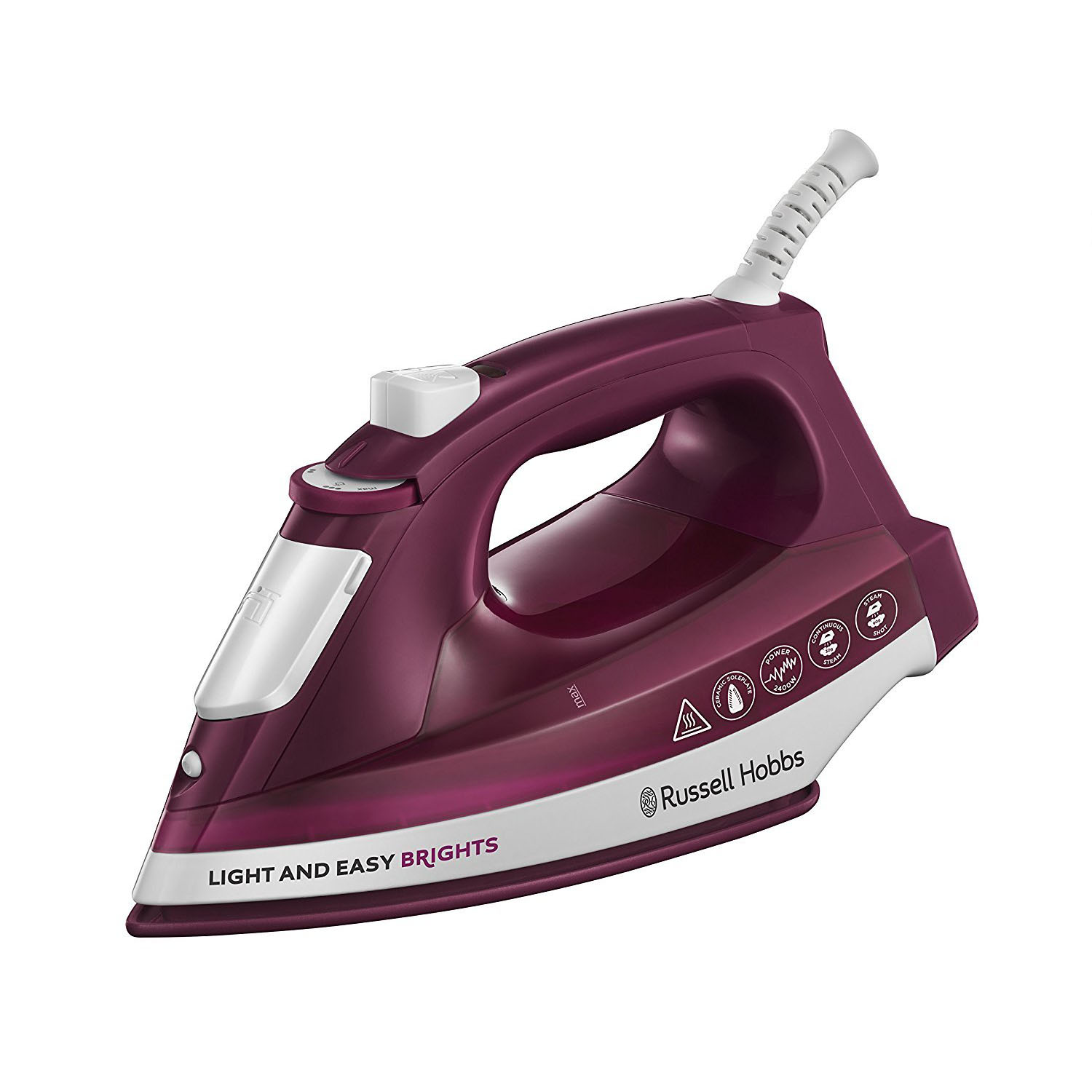 Russell Hobbs 24820 Light and Easy Brights Ceramic Iron - Mulberry
