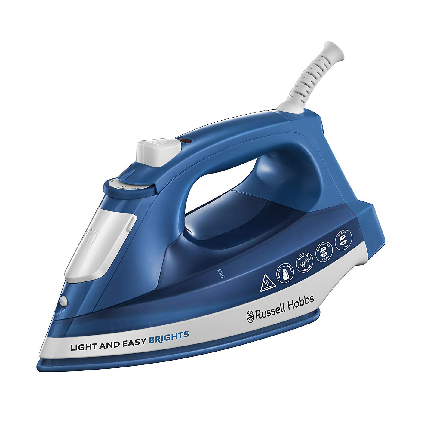 Russell Hobbs 24830 Light and Easy Brights Ceramic Iron - Sapphire