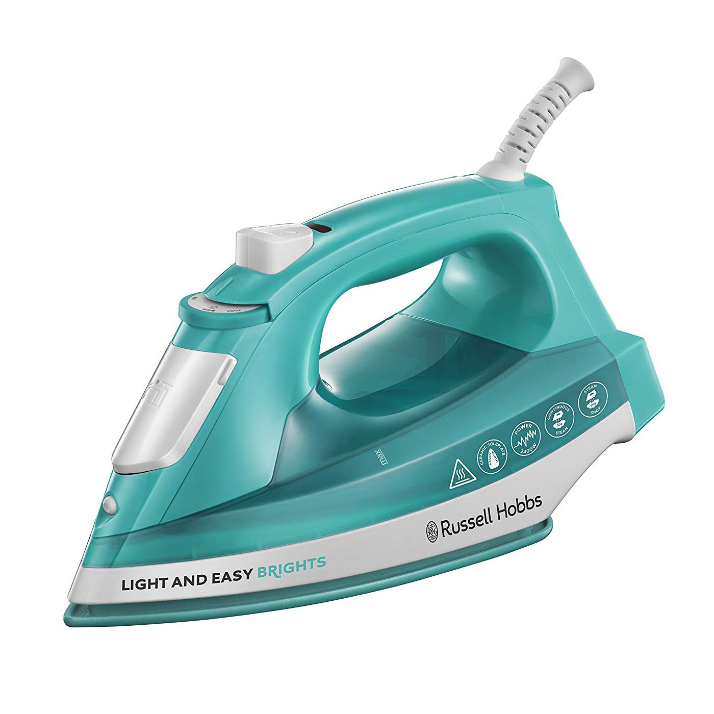 Russell Hobbs 24840 Light and Easy Brights Ceramic Iron - Aqua