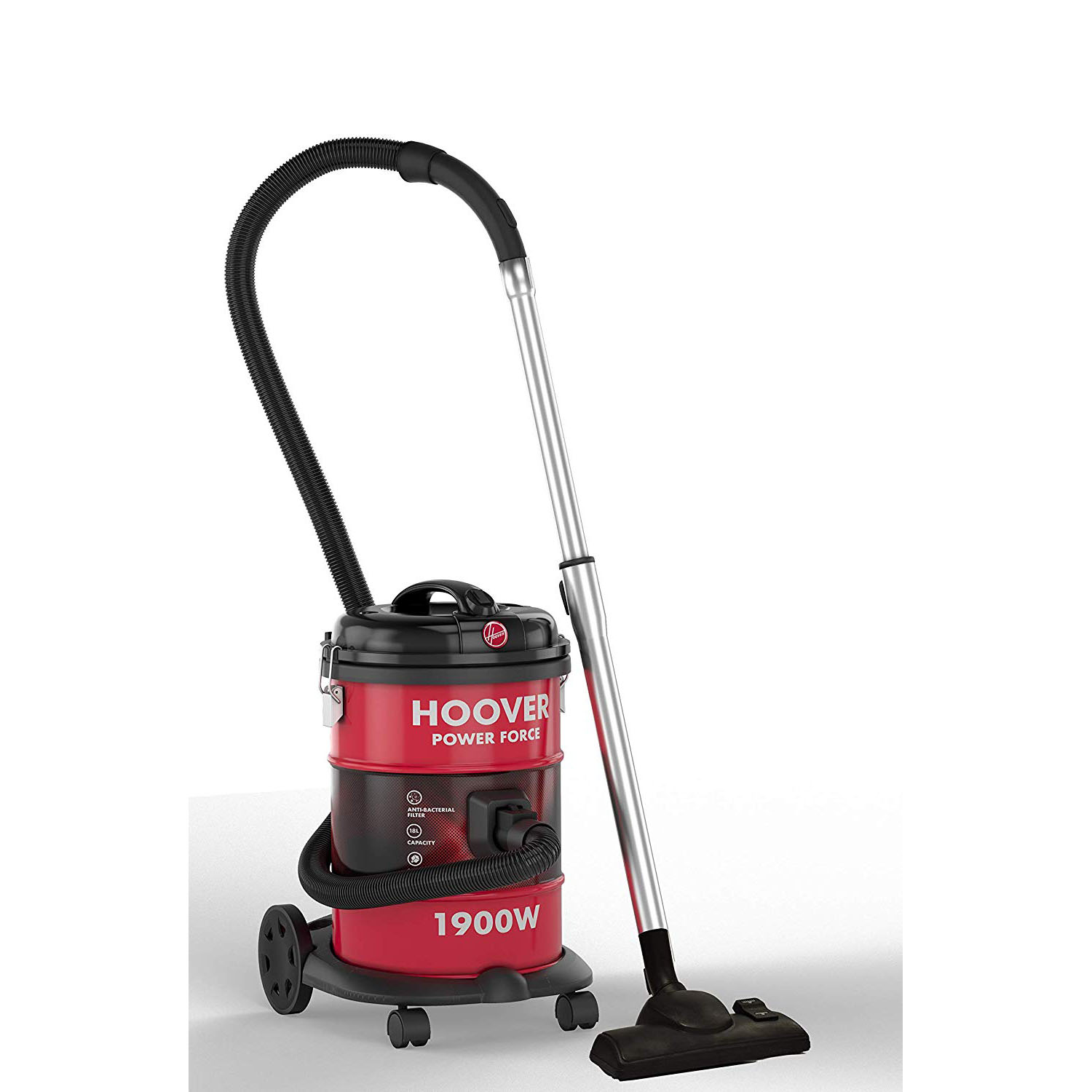 Hoover  HT87-T1-ME 1900W Powerforce Tank Vacuum Cleaner - Red