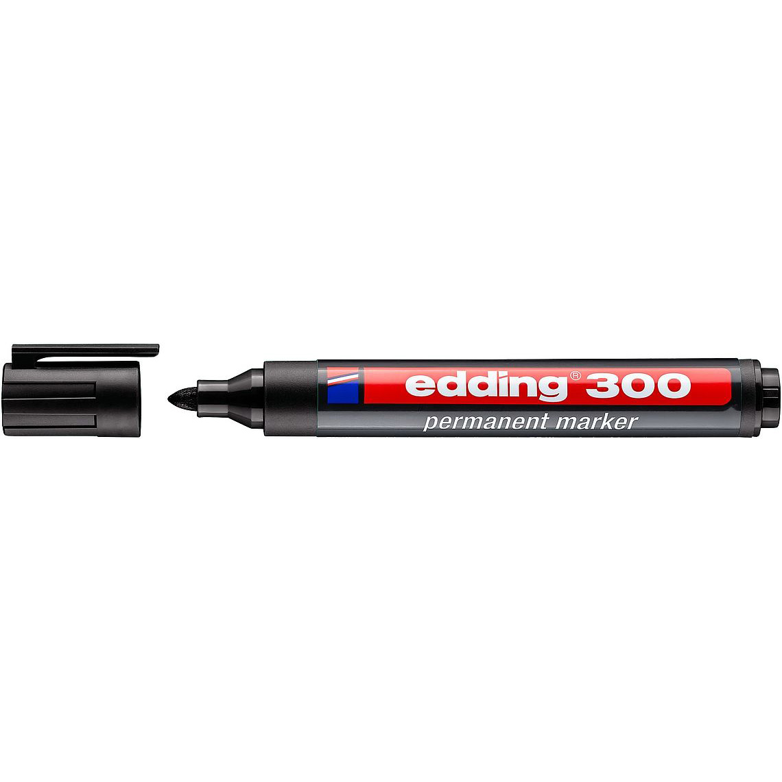 Edding 300 Permanent Marker Bullet Tip - Black (pc)