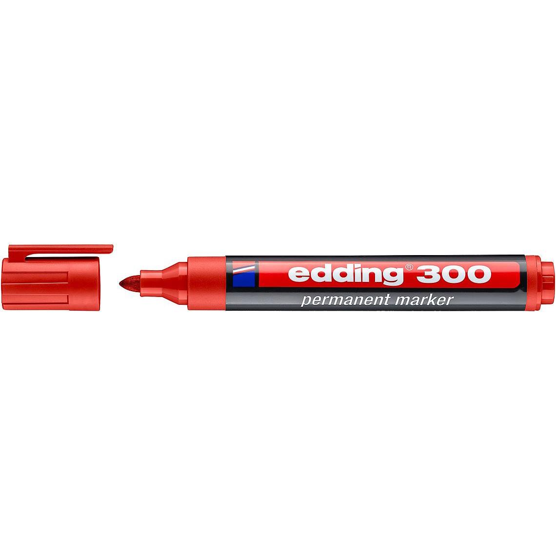 Edding 300 Permanent Marker Bullet Tip - Red (pc)