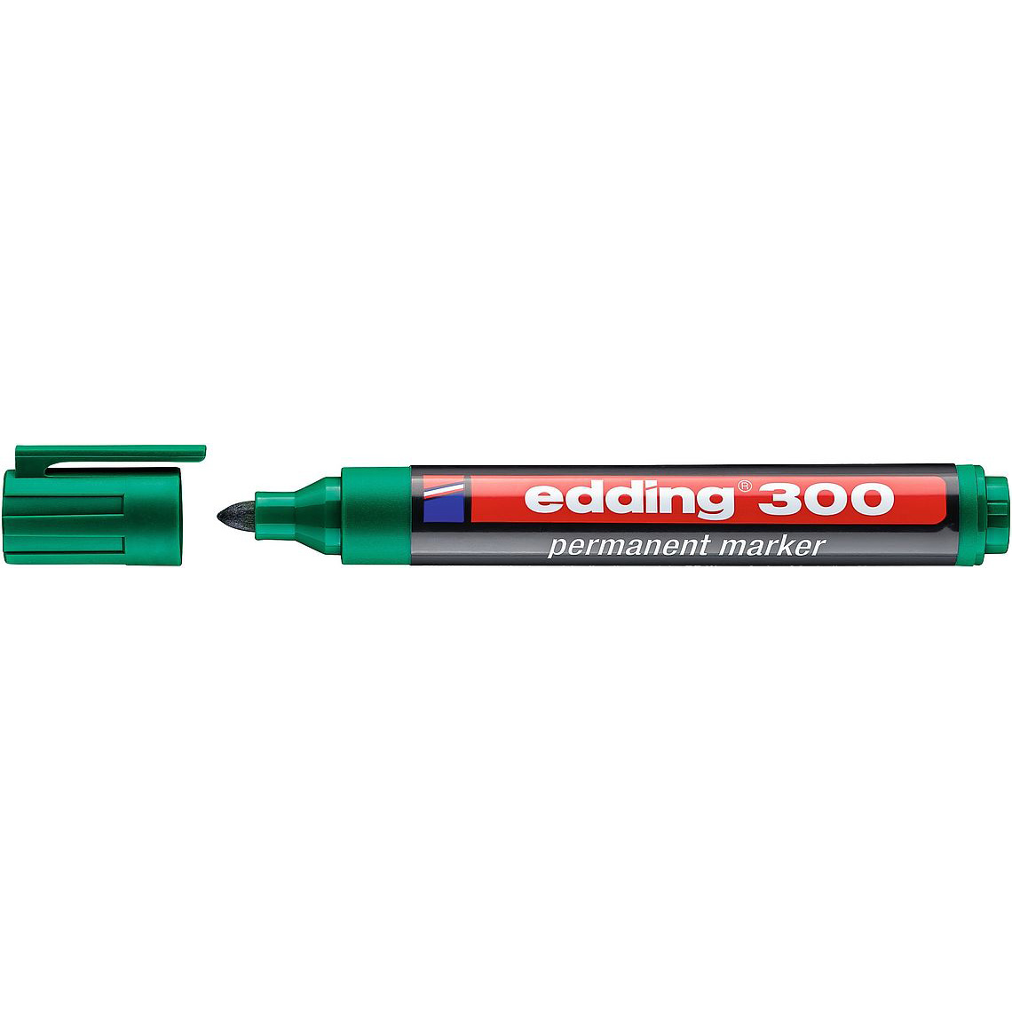 Edding 300 Permanent Marker Bullet Tip - Green (pc)