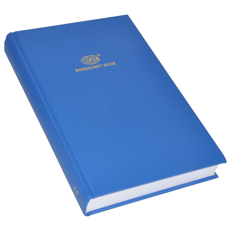 FIS Manuscript Notebook 8mm Single Ruled 480 sheets F/S (210 x 330mm) FSMNFS10Q - Blue (pc)