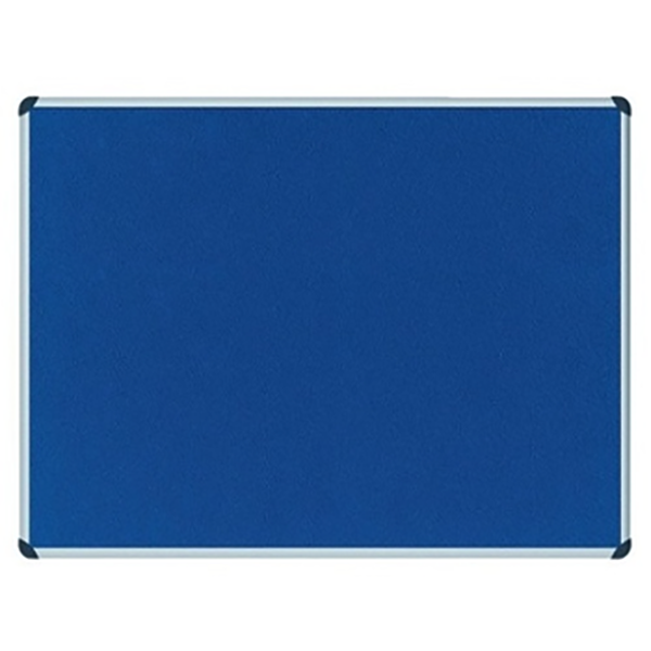 Partner Cork Felt Board 90 x 150cm - Blue (pc)