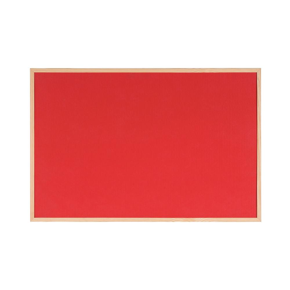 Partner Cork & Felt Board 90 x 120cm - Red (pc)