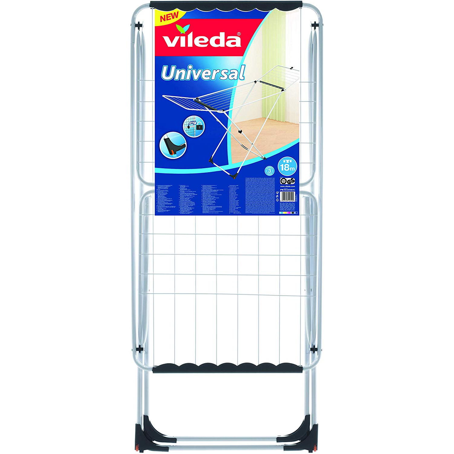 Vileda Universal Steel X-Leg Indoor Cloth Dryer VLID157242 - 18m (pc)