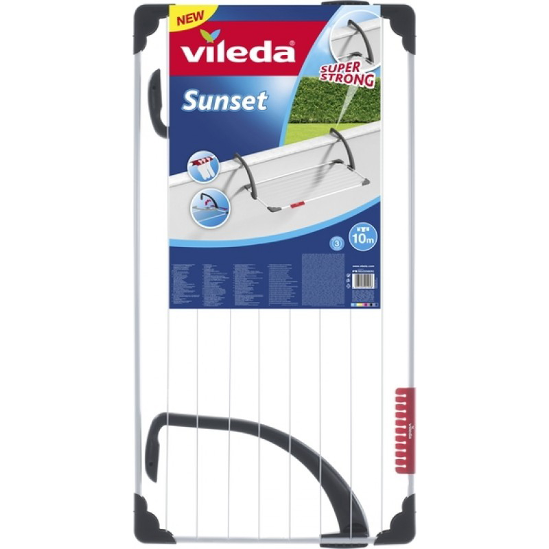 Vileda Sunset Mountable Steel Indoor/Outdoor Cloth Dryer VLID157230 - 10m (pc)