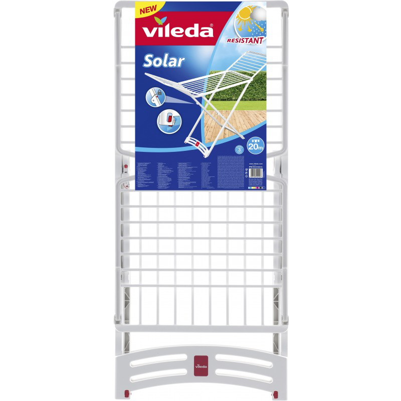 Vileda Solar Resin Plastic X-Leg Indoor/Outdoor Cloth Dryer VLID157218 - 20m (pc)