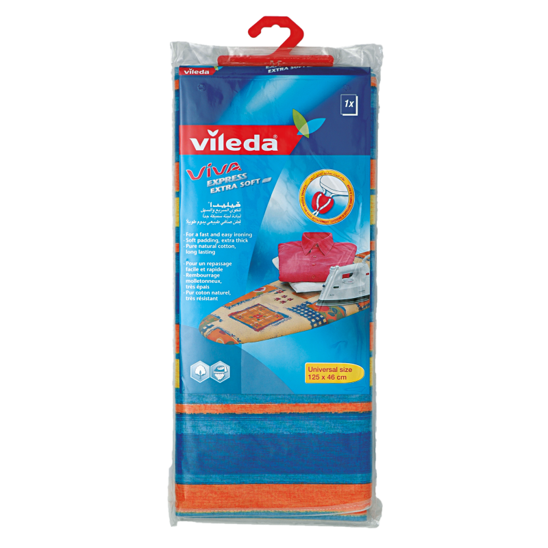 Vileda Extra Soft Ironing Board Cover 125 x 46cm VLPC72136 (pc)