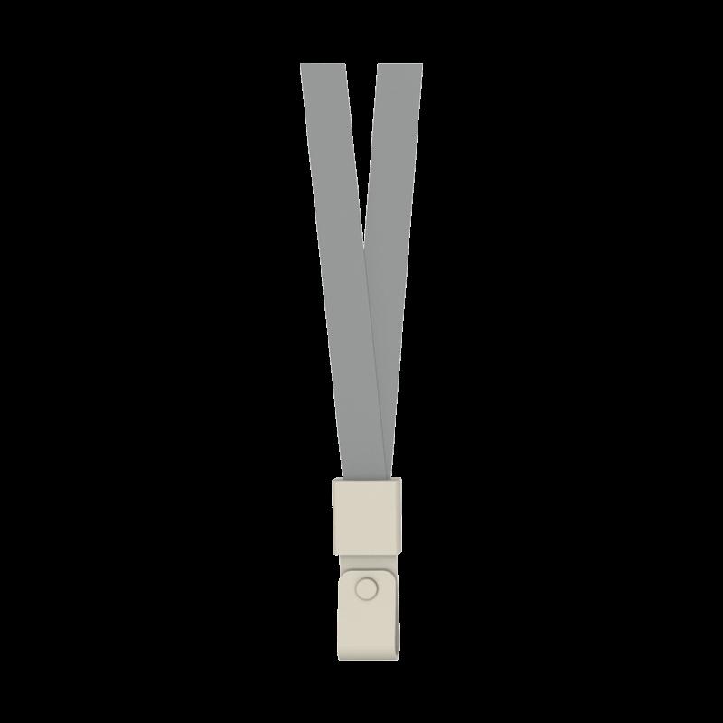 Deli 8353 Nylon Lanyard 450 x 15mm - Grey (pkt/12pcs)