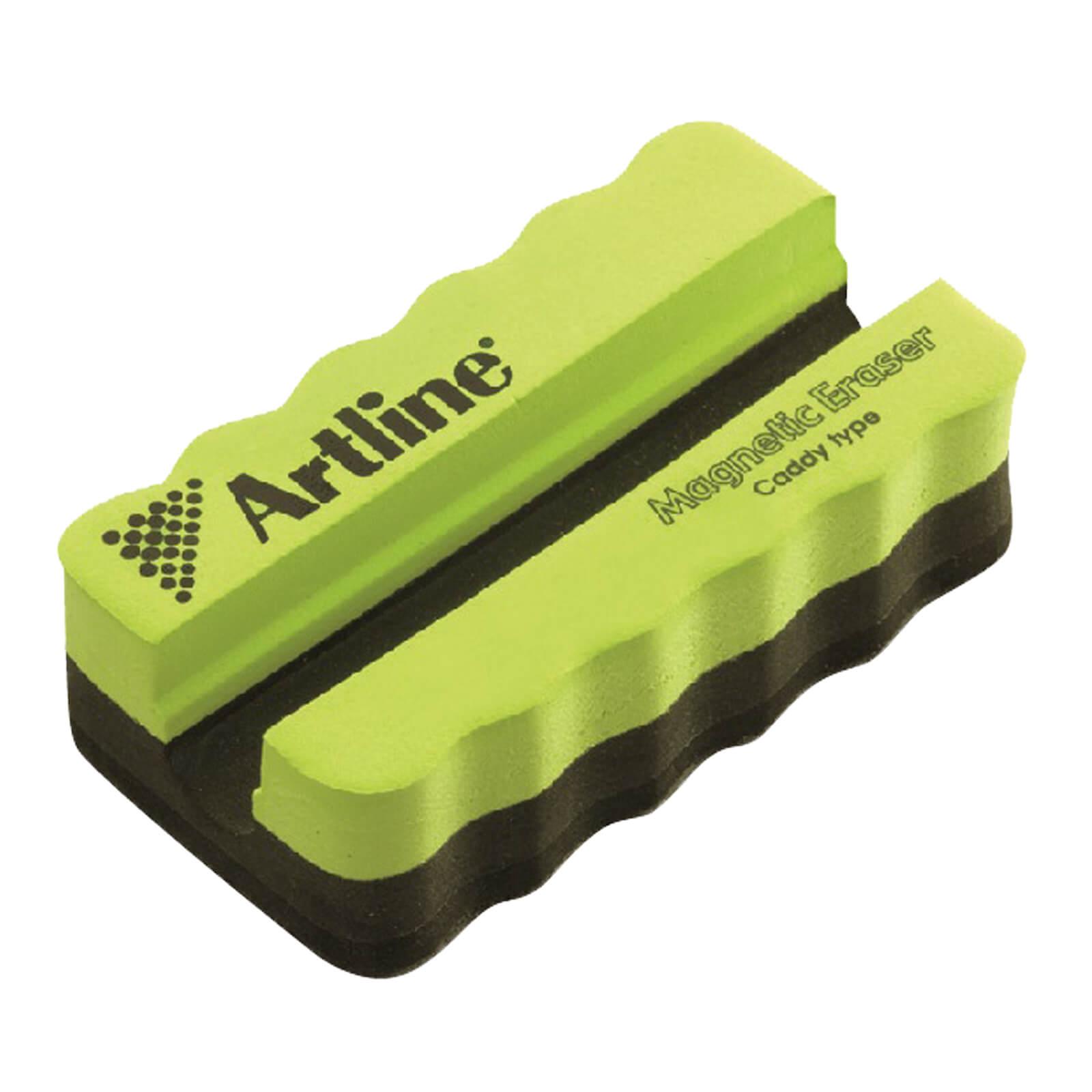 Artline Magnetic Whiteboard Eraser with Holder - Green (pc)