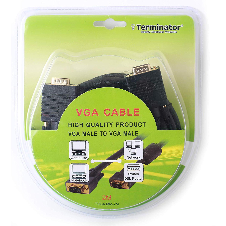 Terminator TVGA MM-2M VGA to VGA Cable (Male to Male) - 2m (pc)