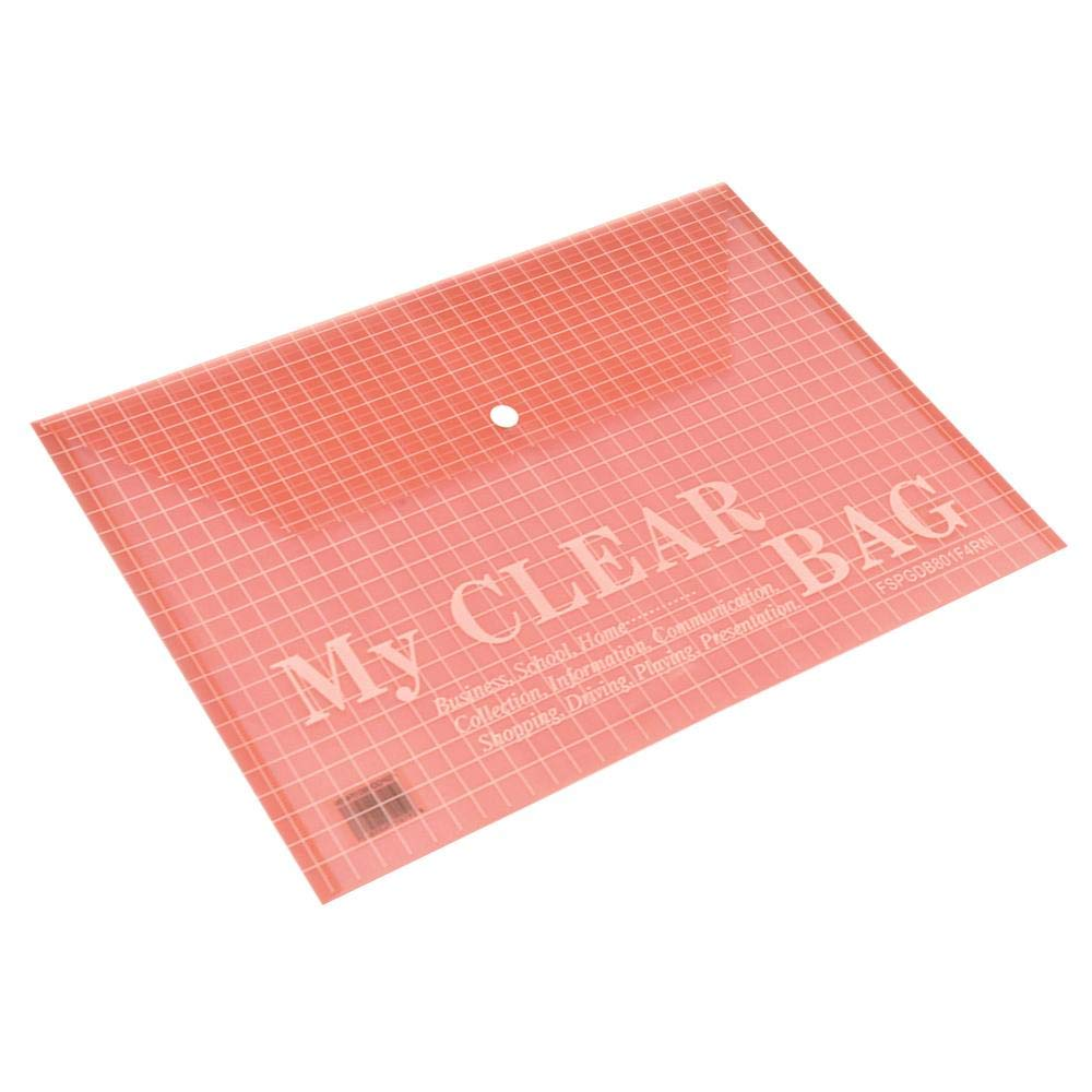 FIS FSPGDB801F4RN My Clear Bag F/S - Red (pkt/12pcs)