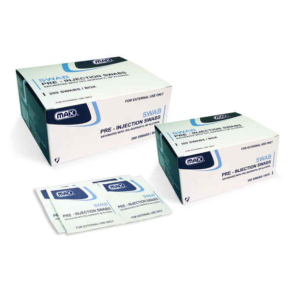 Max Alcohol Pre-injection Swab (box/100pcs)
