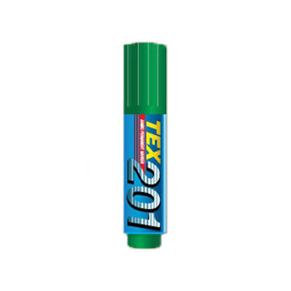 TEX 201 Jumbo Chisel Tip Permanent Marker - Green (box/12pcs)