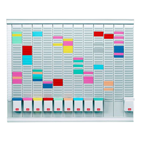 Nobo 32938864 T-Card Annual Planning Kits (32 slots) 12 Panels