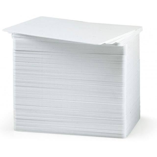 Zebra 104524-111 ID PVC Cards - White (pkt/500pcs)