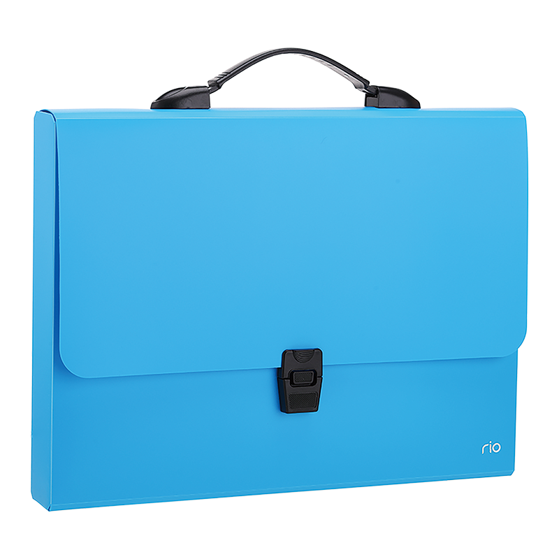 Deli EB50002 Rio Document Case Buckled 3C A4 - Blue (pc)