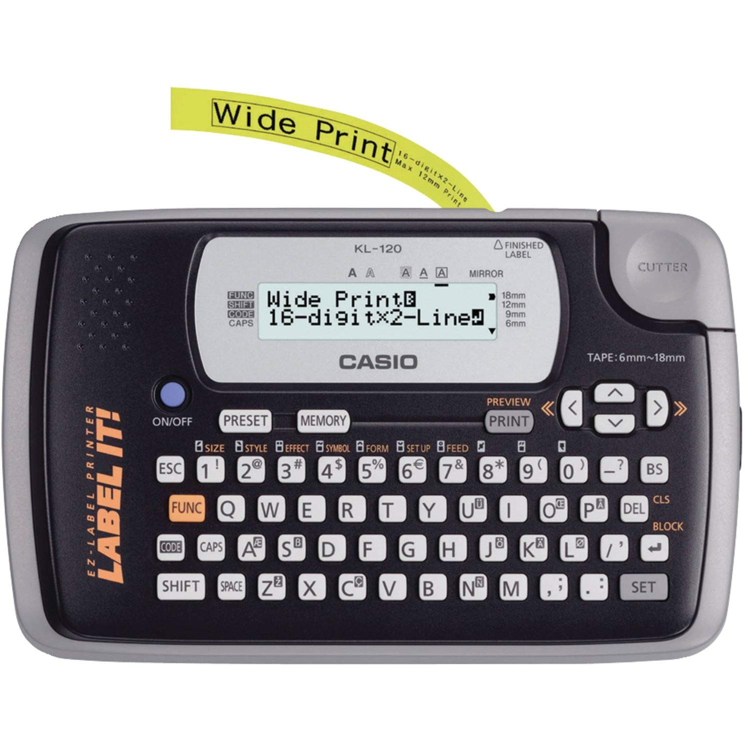 Casio KL-120 LABEL IT Label Printer