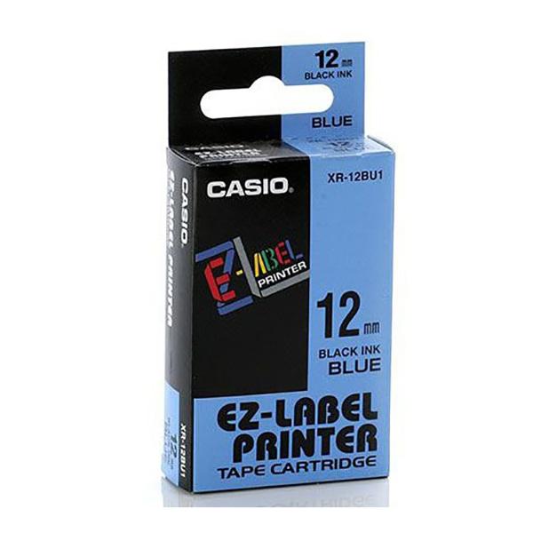 Casio XR-12BU1 EZ Label Printer 12mm x 8m - Black on Blue (pc)