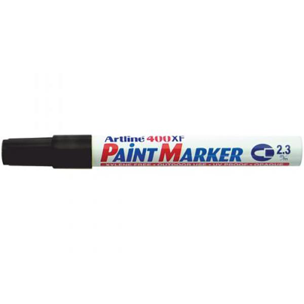 Artline 400 Paint Marker Medium - Black (pkt/12pcs)