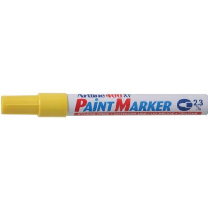 Artline 400 Paint Marker Medium - Yellow (pkt/12pcs)