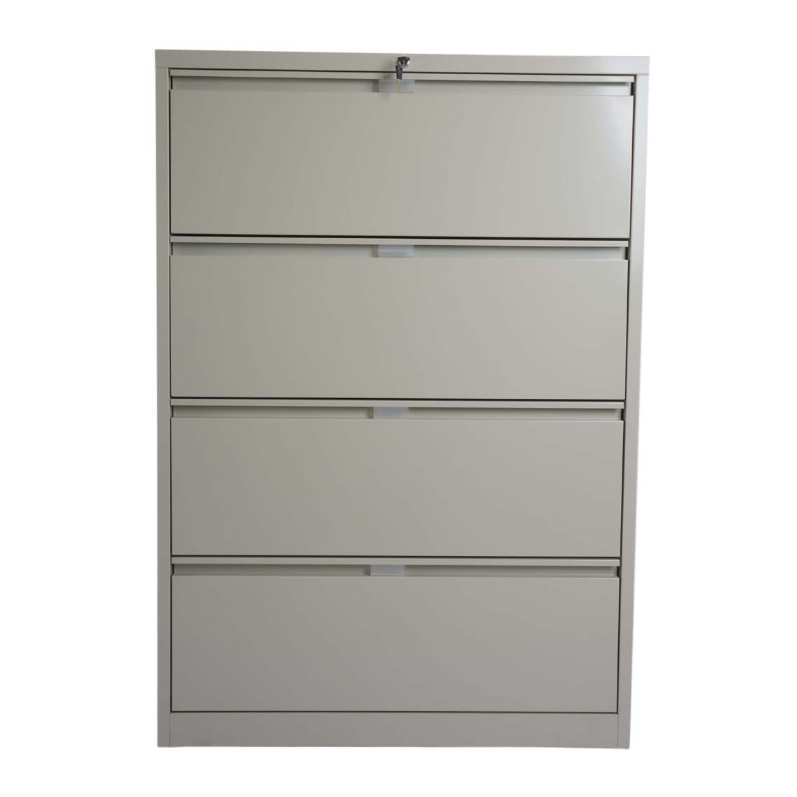 Godrej OEM 4 Drawer Lateral Steel Filing Cabinet - Beige