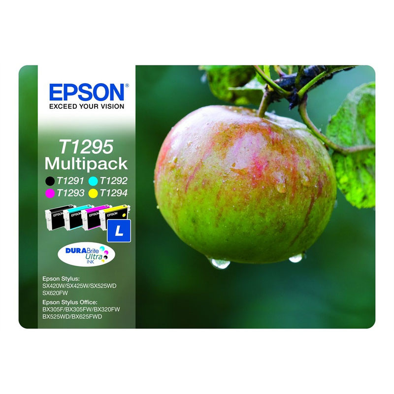 Epson T1295 Multipack Ink - Black, Cyan, Magenta, Yellow