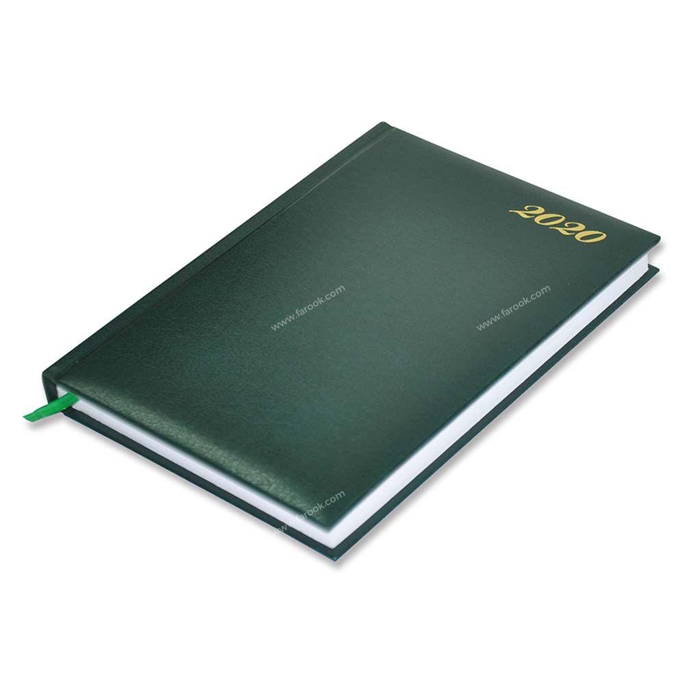 FIS 18E 2020 Vinyl Cover 1D/Page English A5 Diary FSDI18E20GR - Green (pc)