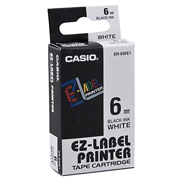 Casio XR-6WE1 EZ Label Printer 6mm x 8m - Black on White (pc)