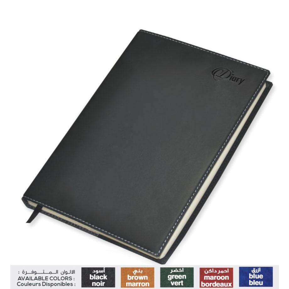FIS 17E 2020 Italian PU Cover 1D/Page English A5 Diary FSDI17E20BK - Black (pc)