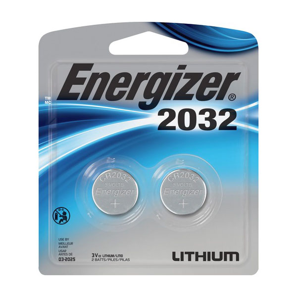 Energizer CR2032 3V Battery (pkt/2pcs)