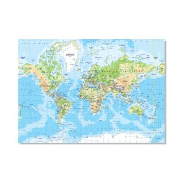 FIS World Map English 70 x 100cm - FSMA70X100N (pc)