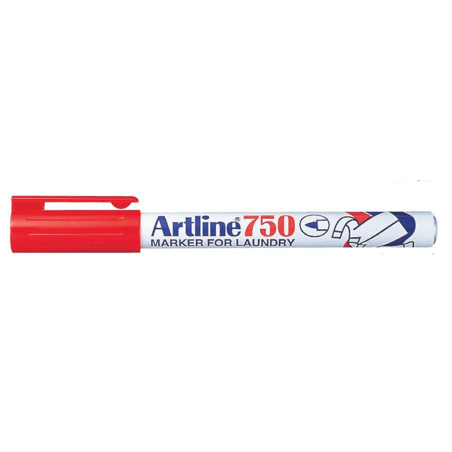 Artline 750 Bullet Laundry Marker 0.7mm - Red (pc)